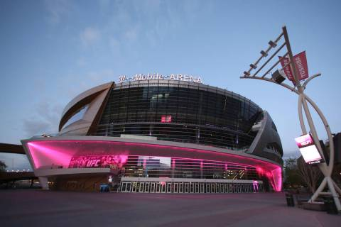 T-Mobile Arena, seen in March 2020 in Las Vegas. (Bizuayehu Tesfaye/Las Vegas Review-Journal)