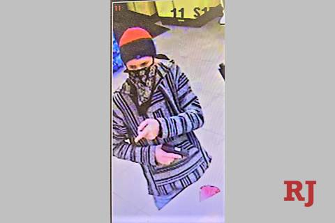 Las Vegas police are looking for a suspect who robbed a western valley business on Feb. 3, 2021 ...