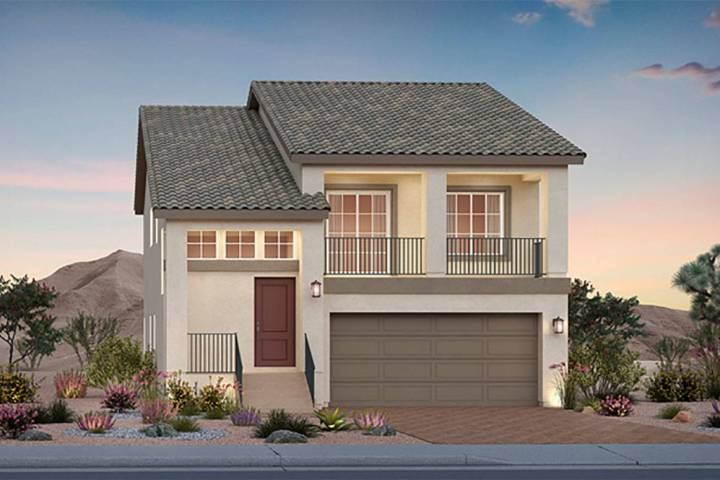 The two-story Barnett plan features a first-level owner's suite and game room as standard, as ...