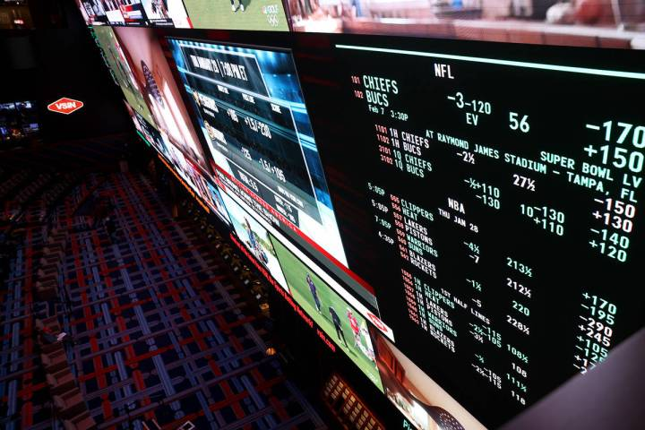Circa sportsbook in downtown Las Vegas Thursday, Jan. 28, 2021. (K.M. Cannon/Las Vegas Review-J ...
