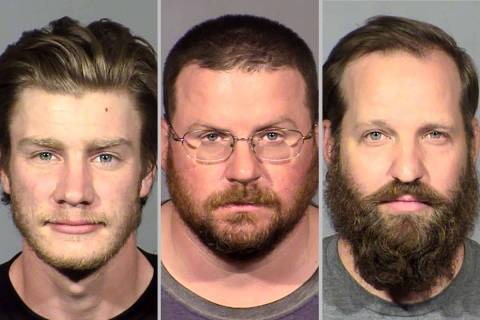 Andrew Lynam, left, William Loomis, Stephen Parshall (Las Vegas Metropolitan Police Department)
