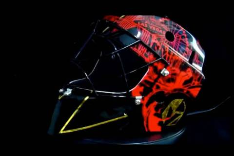 """The Golden Knights goalie is expected to wear a newly designed mask to match the team's """"Revers ..."""