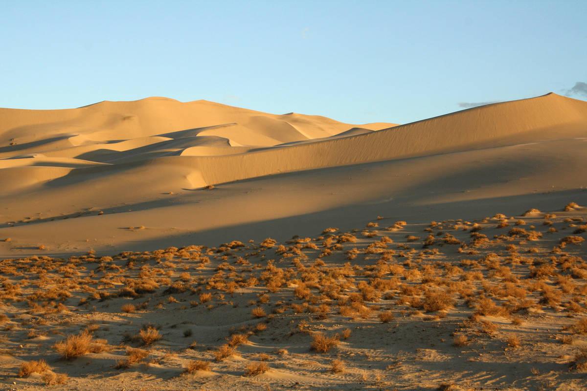 At sunset Eureka Dunes take on a golden hue. (Deborah Wall)