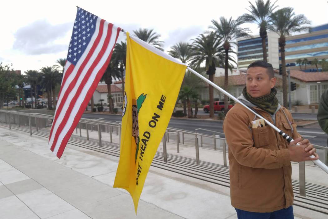 In a file image from 2018, Joshua Martinez, stood outside the Lloyd D. George U.S. Courthouse t ...