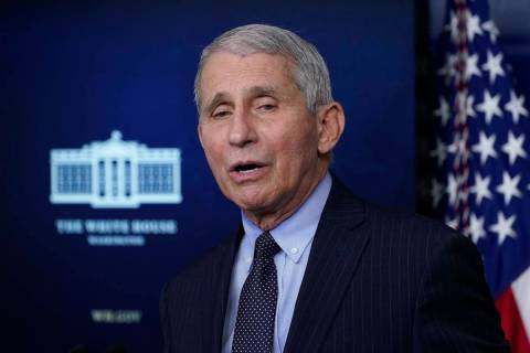 In this Jan. 21, 2021, file photo, Dr. Anthony Fauci, director of the National Institute of All ...