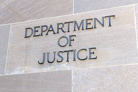 Department of Justice sign, Washington, D.C. (AP File)