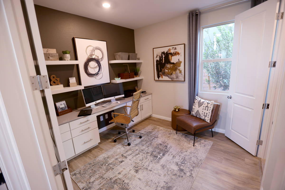 The home office in the model home at the KB Home community of Stonegate in Las Vegas Thursday, ...