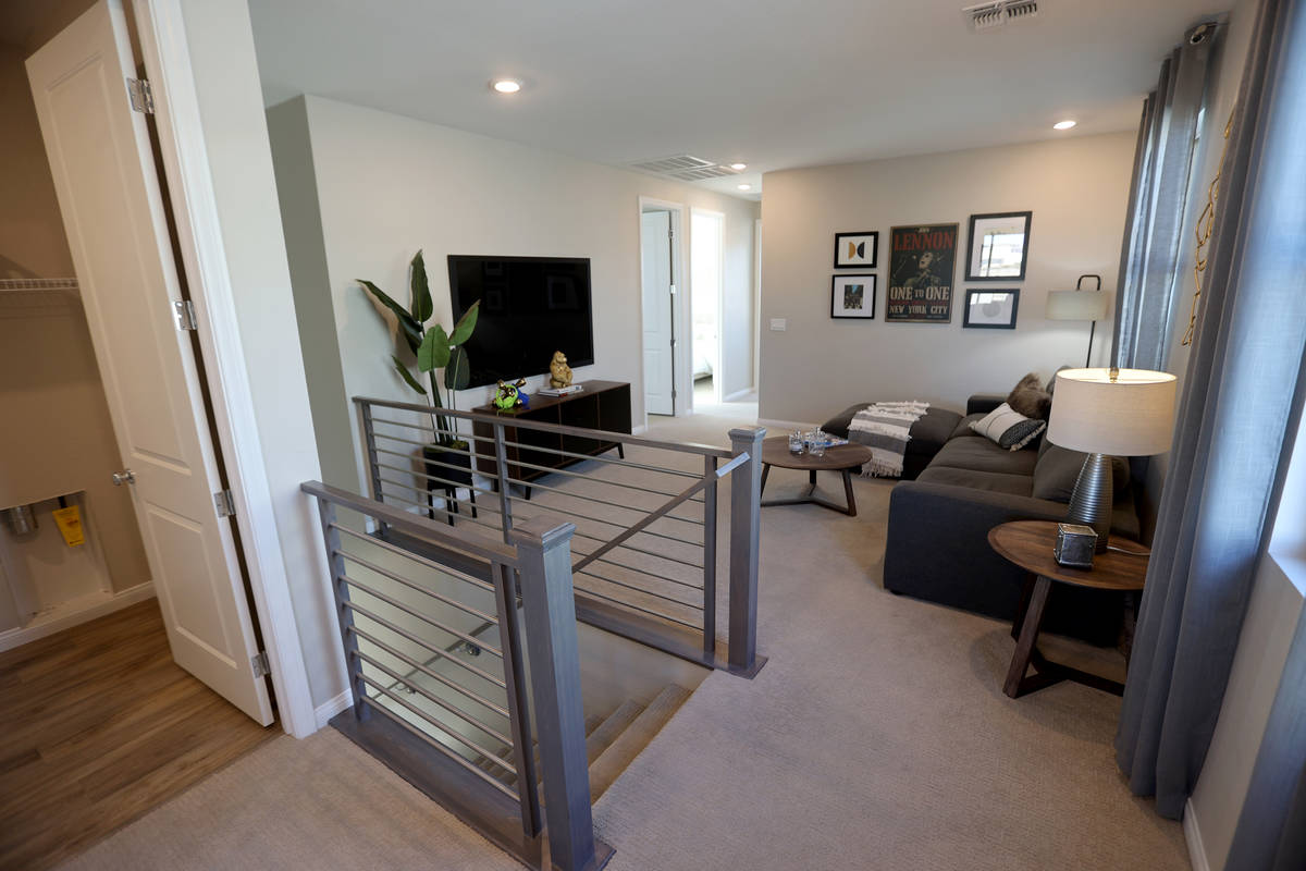 The second floor in the model home at the KB Home community of Stonegate in Las Vegas Thursday, ...