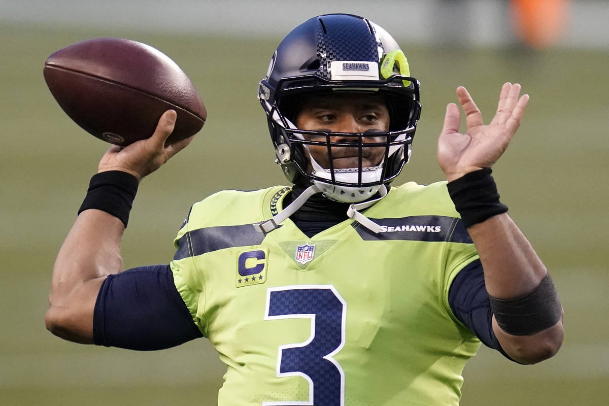 Seattle Seahawks quarterback Russell Wilson in action against the Arizona Cardinals during an N ...