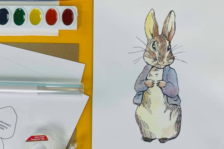 A Beatrix Potter-inspired project from the Easter Art Box. (Art Classes for Kids)