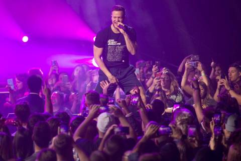 Dan Reynolds has been an advocate of the LGBTQ+ community for years. (Review-Journal file photo)