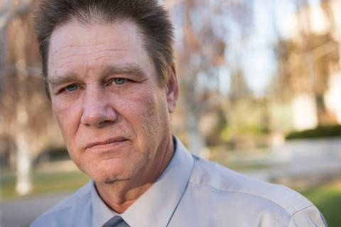 Fred Steese is seen outside the Nevada Supreme Court in Carson City following his successful pa ...