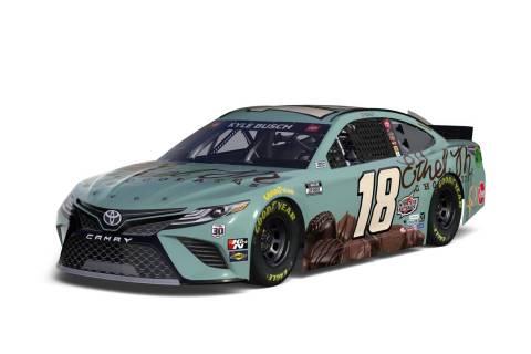 Kyle Busch's NASCAR car. (Ethel M Chocolates)