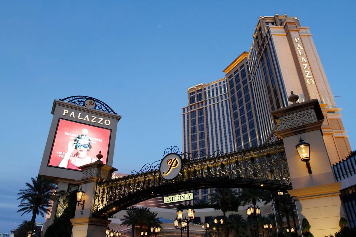 This Nov. 21, 2020, file photo shows The Palazzo on the Las Vegas Strip. (Chitose Suzuki / Las ...