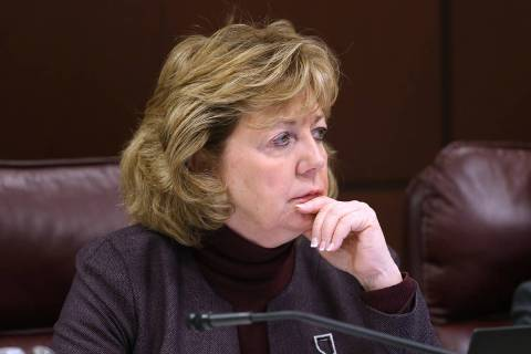 Sen. Marilyn Dondero Loop, D-Las Vegas, during a Judiciary Committee meeting in the Legislative ...