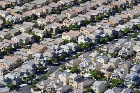 An aerial view of a residential community. (David Becker/Las Vegas Review-Journal)