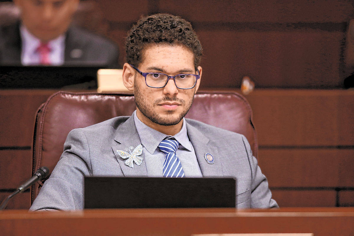 Assemblyman Howard Watts, D-Las Vegas, at the Legislative Building in Carson City Monday, April ...