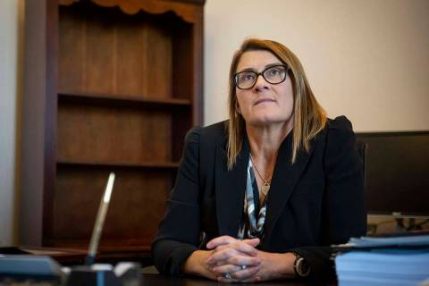 District Judge Jennifer Togliatti at the Regional Justice Center on Nov. 28, 2018. Togliatti ma ...