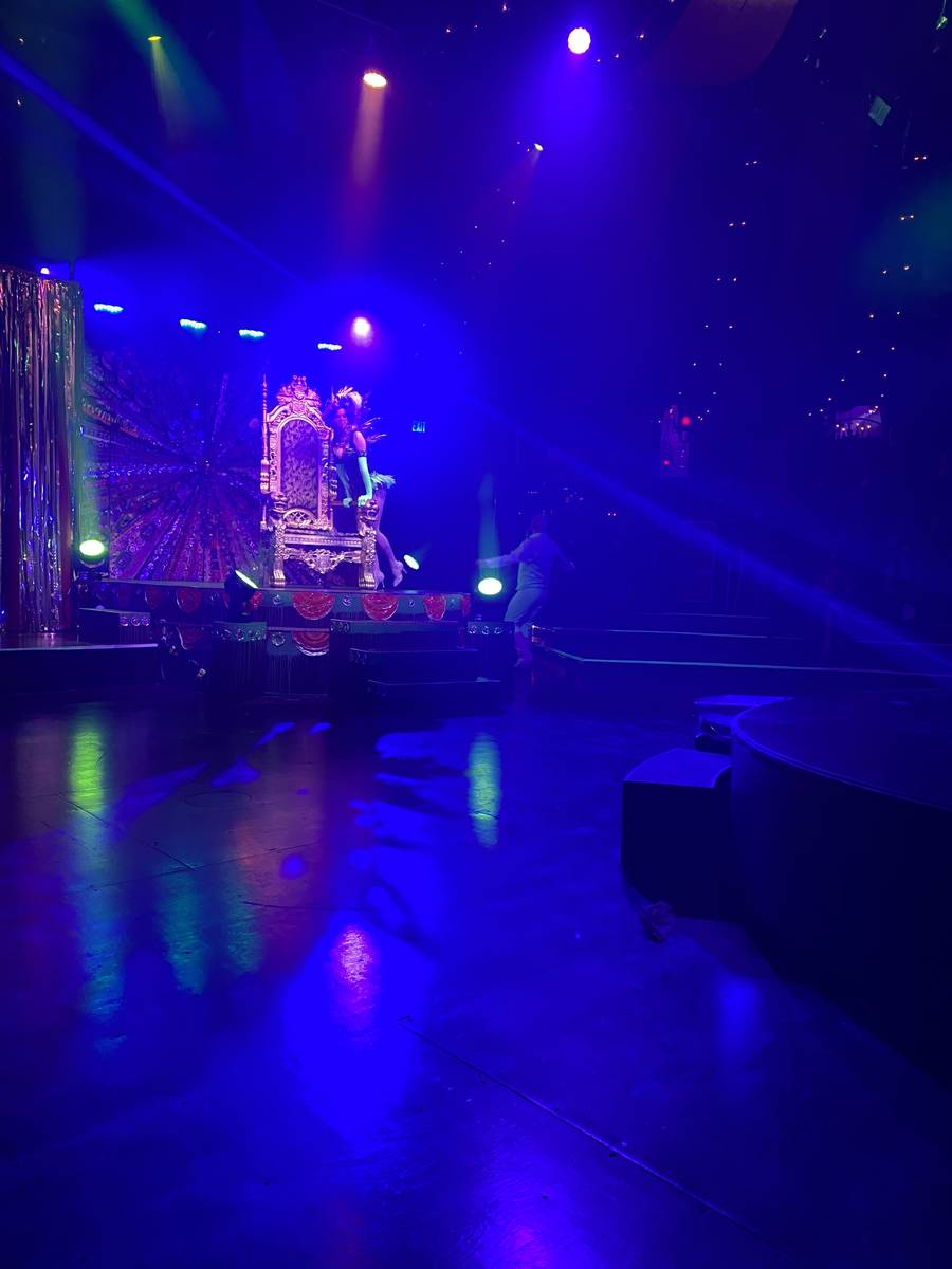 "The Spiegeltent stage setup is shown in the return of ""Absinthe"" at Caesars Palace on Wednesday ..."