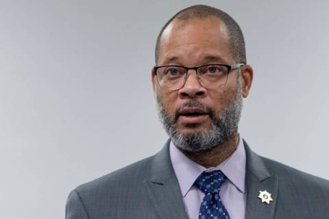 Nevada Attorney General Aaron Ford speaks in Las Vegas in August 2020. (Las Vegas Review-Journal)
