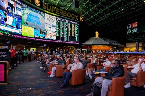 The seats are full for the during opening day of NCAA Tournament play at the Westgate SuperBook ...