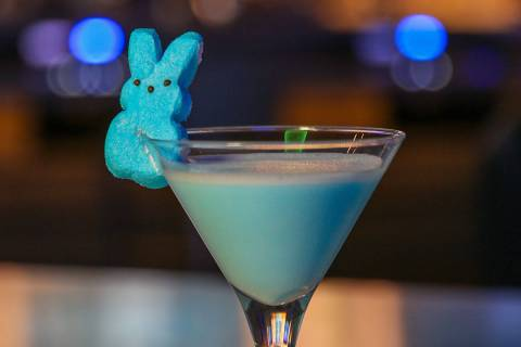 The Peeps-berry chocolate martini at The Strat. (Golden Entertainment)