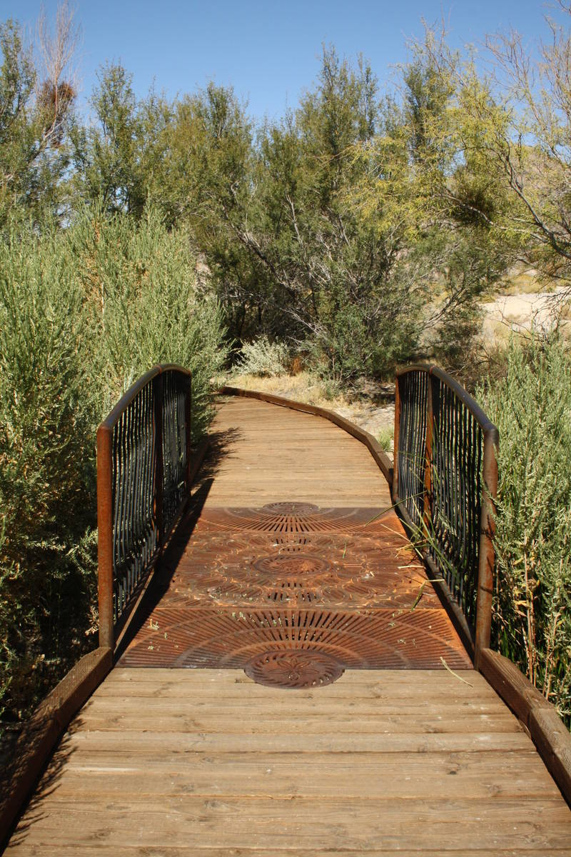 There is a quarter-mile looping boardwalk trail at the Point of Rocks Springs area. (Deborah Wall)