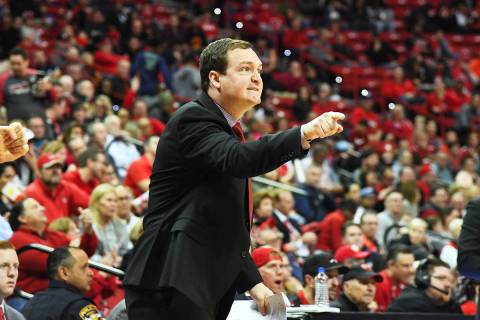 Kevin Kruger is introduced Monday as the new men's basketball coach at UNLV. (UNLV athletics de ...