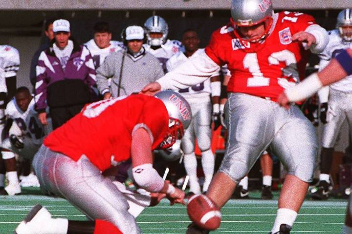 """Nick """"The Kick"""" Garritano scored UNLV's only points against Kansas State with this field goal. ..."""