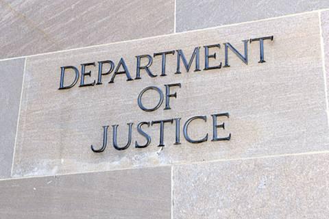 Department of Justice sign, Washington, D.C. (AP File)
