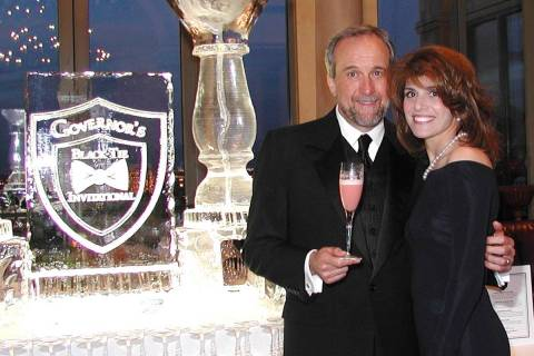 Senior Managing Director of Southern Wine and Spirits of Nevada Larry Ruvo, and his wife Camill ...