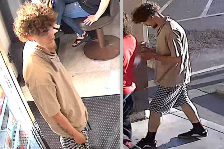 Las Vegas gang detectives are asking for help identifying a man suspected of stabbing another l ...