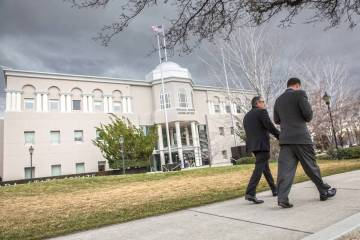 Nevada Legislative Building in Carson City. (Benjamin Hager/Las Vegas Review-Journal)