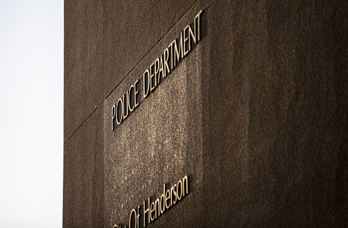 Henderson Police Department on Tuesday, March 16, 2021, in Henderson. (Benjamin Hager/Las Vegas ...