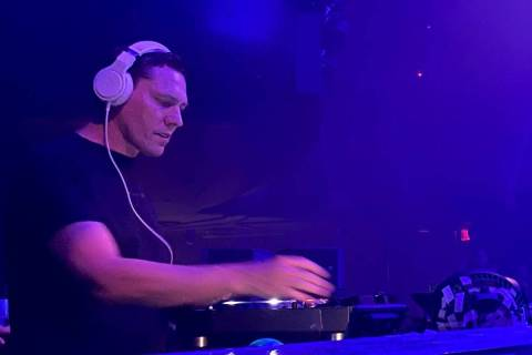 Tiesto performs during the DreamlandXR Closing Night Party at Hakkasan Nightclub at the MGM Gra ...