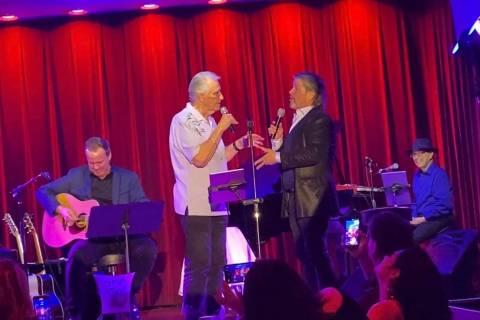 John Wedemeyer, Bucky Heard, Bill Medley and Joey Melotti are shown at Medley's unbilled appear ...