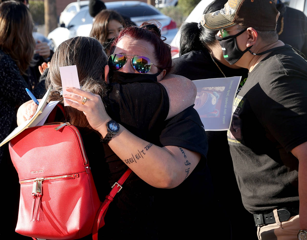 Jeanne Llera, mother of Jorge Gomez, who was shot and killed by four Las Vegas police officers ...