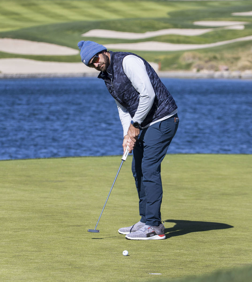 Chandler Blanchet of Jacksonville Beach, Fla., sinks a birdie putt on fourth hole during the fi ...
