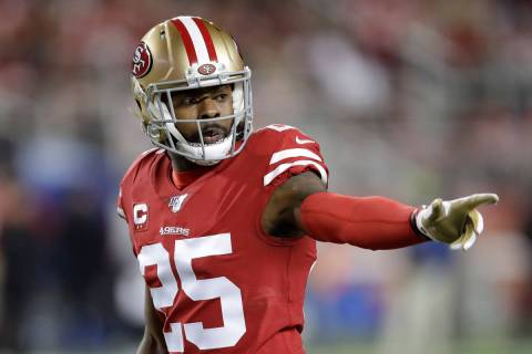 San Francisco 49ers cornerback Richard Sherman against the Green Bay Packers during an NFL foot ...