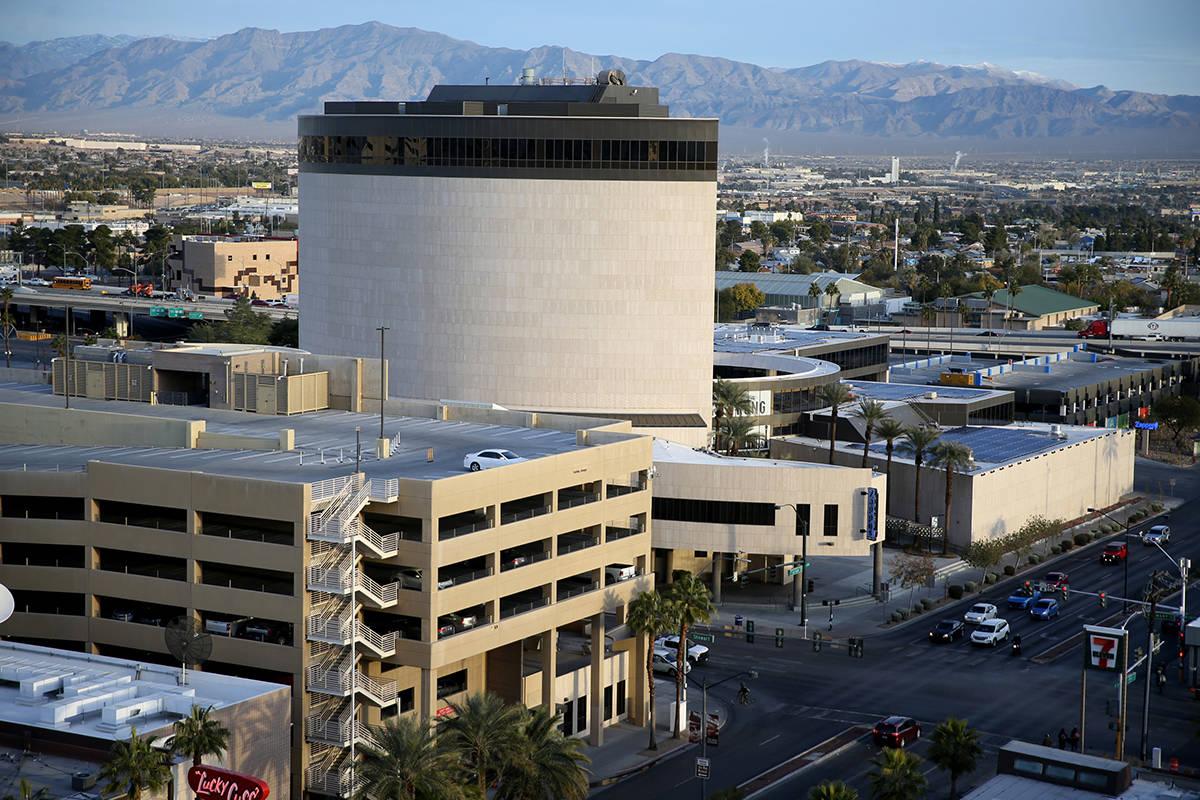 Zappos headquarters in downtown Las Vegas in 2019. (K.M. Cannon/Las Vegas Review-Journal) @KMCa ...