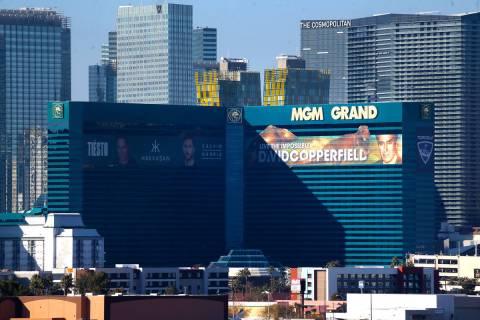 MGM Grand casino-hotel in Las Vegas, Tuesday, Jan. 14, 2020. (Erik Verduzco/Las Vegas Review-J ...