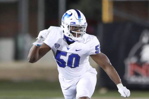 Buffalo Bulls defensive end Malcolm Koonce (50) in action against the Northern Illinois Huskies ...