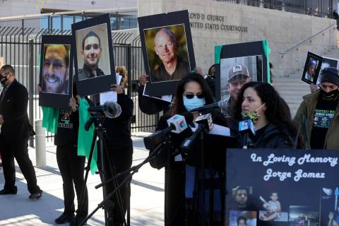 During a February news conference outside the Lloyd George U.S. Courthouse, police accountabili ...