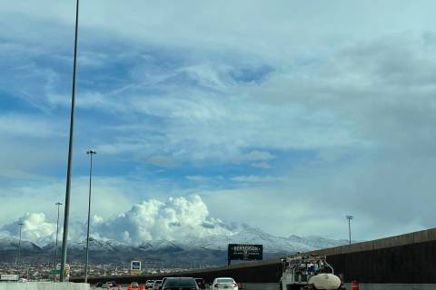 Traffic on the 215 Beltway eastbound near Eastern Avenue on March 12, 2021. (Mick Akers/ Las Ve ...