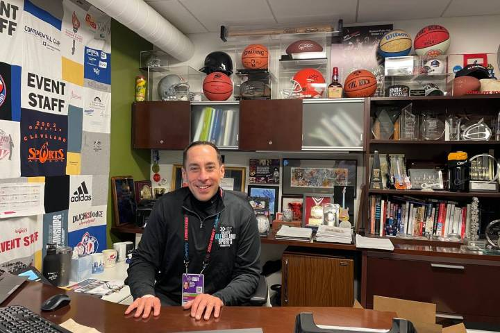 Destination Cleveland president and CEO David Gilbert poses for a photo at his office in downto ...