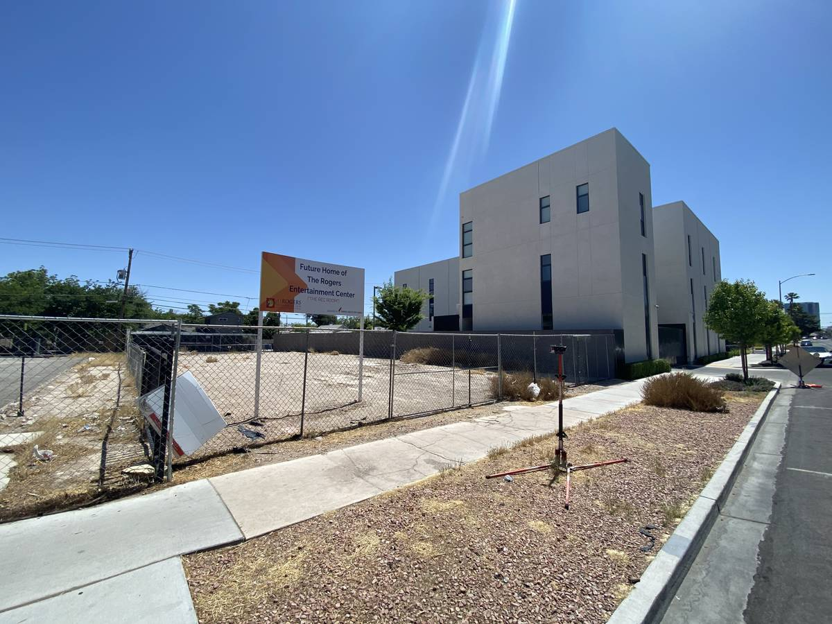 A look at the site of what is temporarily named Rogers Entertainment Center near the corner of ...