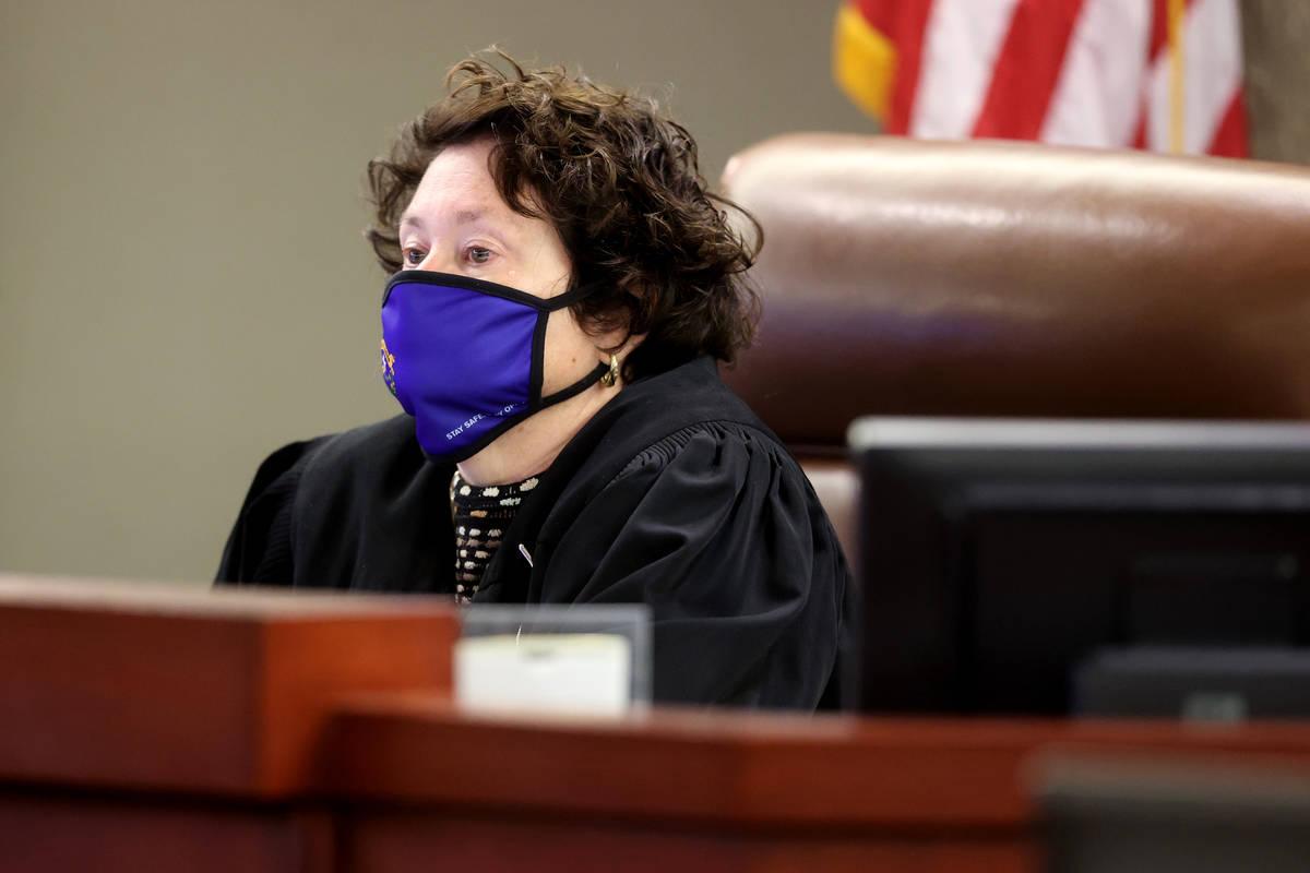 District Judge Elizabeth Gonzalez presides during a civil bench trial at the Regional Justice C ...