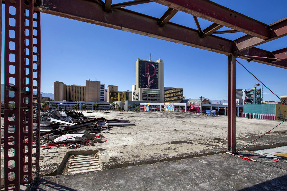 A restaurant and bar will occupy the rooftop location as redevelopment construction by the Dapp ...