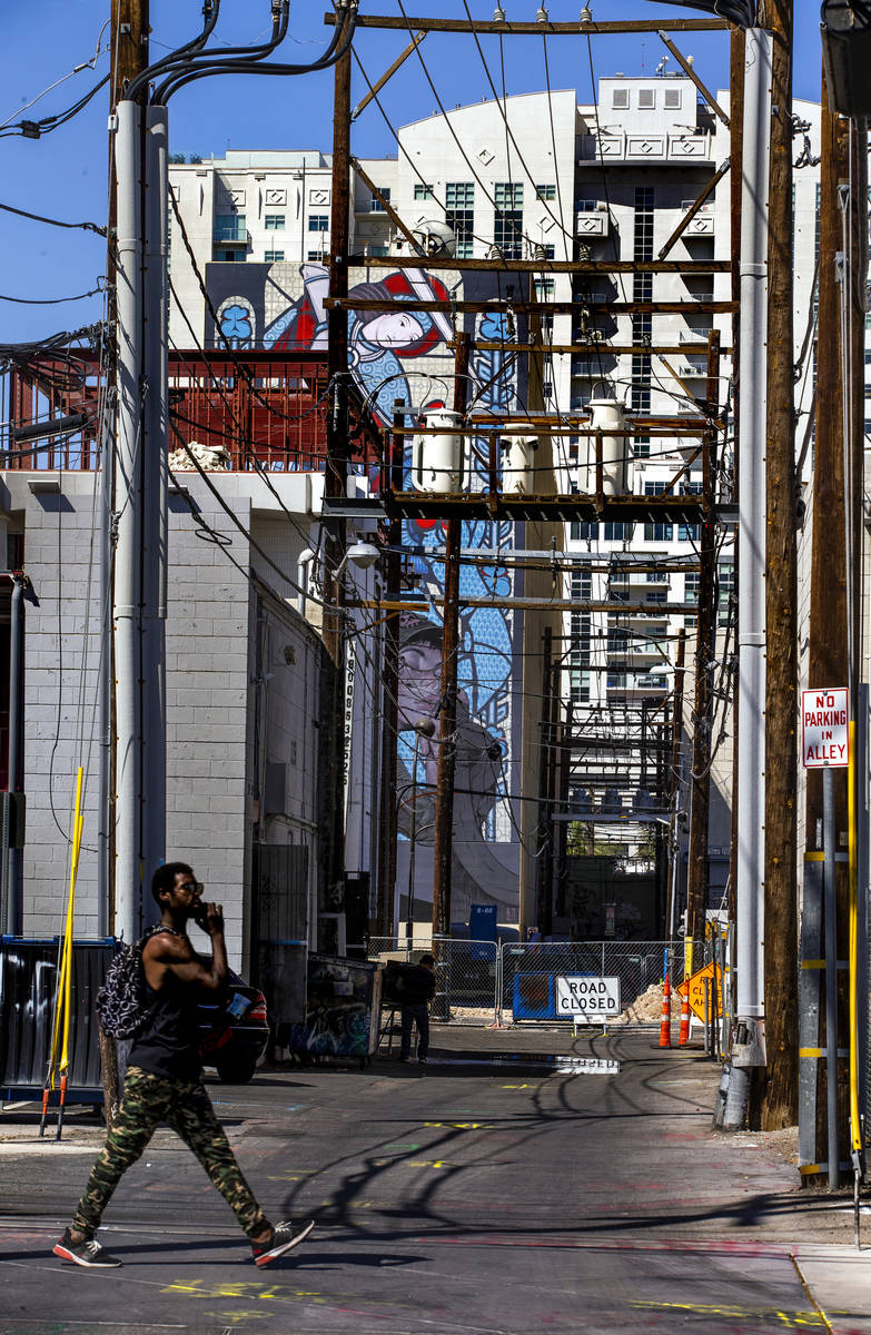 Power lines will be buried as redevelopment construction continues on the multi-use commercial ...