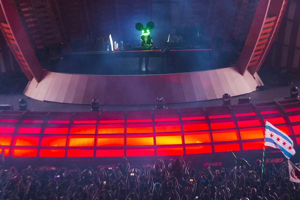 Deadmau5 performs at Electric Daisy Carnival at the Las Vegas Motor Speedway, May 18, 2019. (Ch ...